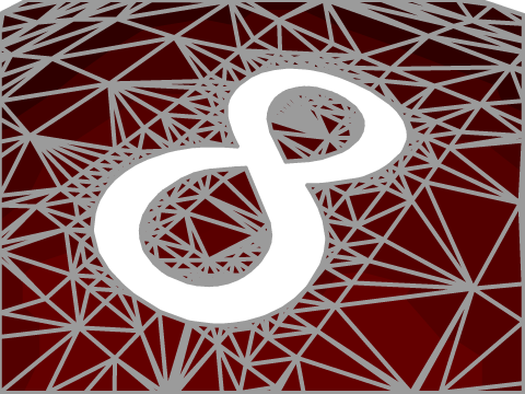 tessellation of a nurbs trimmed by a white 8